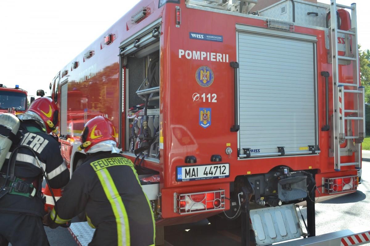 Incendiu la o anexă gospodărească din Cisnădie