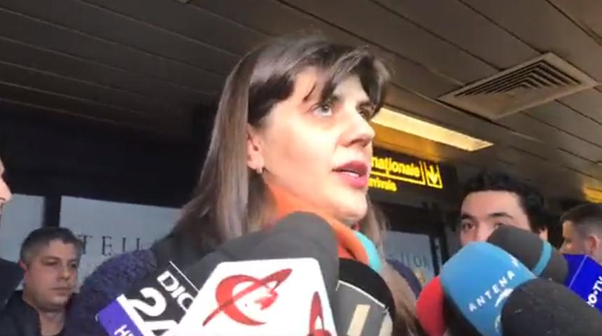 """Laura Codruța Kovesi a fost în avionul Wizz care a întârziat 20 de ore. """"Le-am făcut plângere"""""""