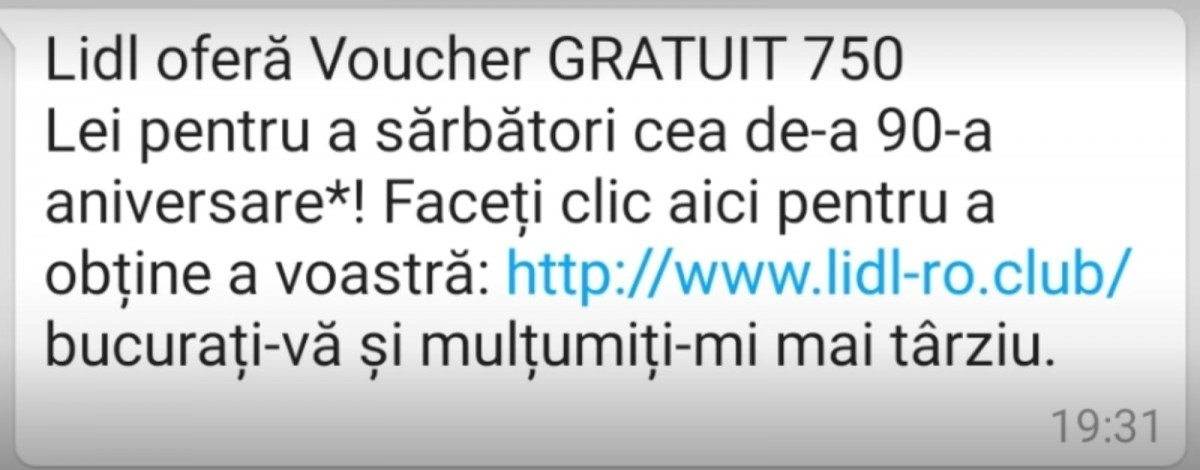 Vouchere false de la Lidl. Înșelătorie pe WhatsApp