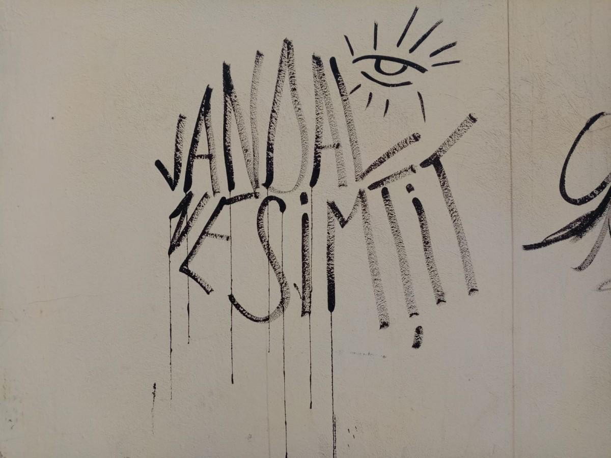 """S-au oferit voluntari pentru a șterge """"arta"""" din centrul orașului"""