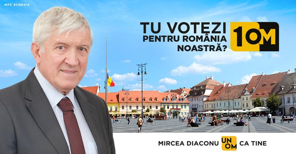 Pe 10 noiembrie votează Mircea Diaconu, un OM ca TINE!