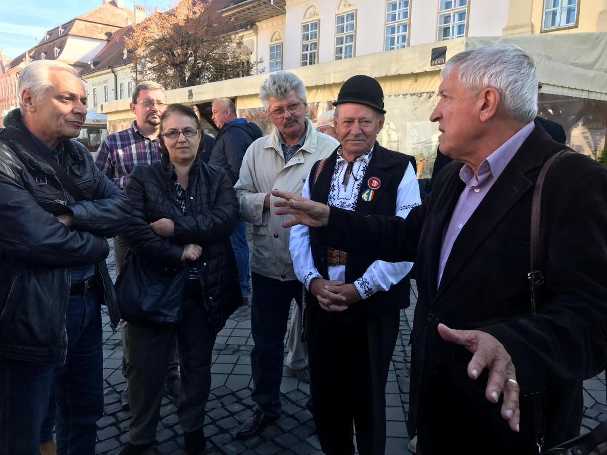 """Mircea Diaconu în dialog cu sibienii. """"Putem fi un fel de muzeu în mijlocul Europei"""""""