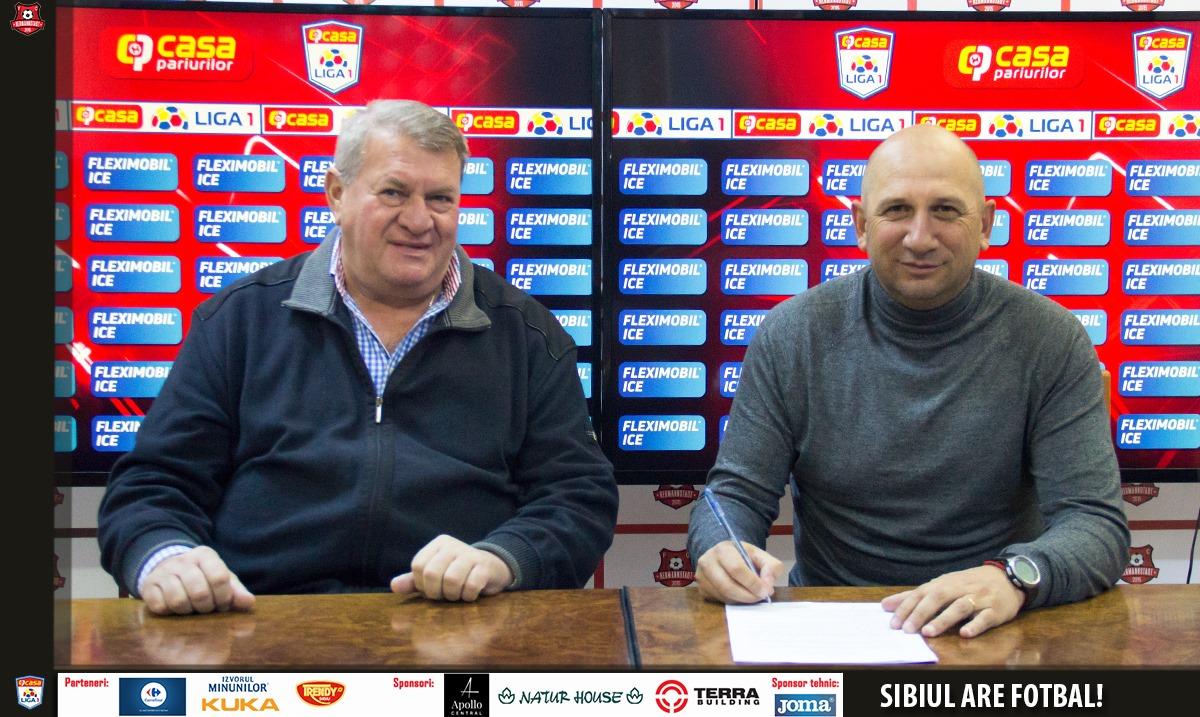 Vasile Miriuță s-a întors la Sibiu. Contract până în vară cu Hermannstadt