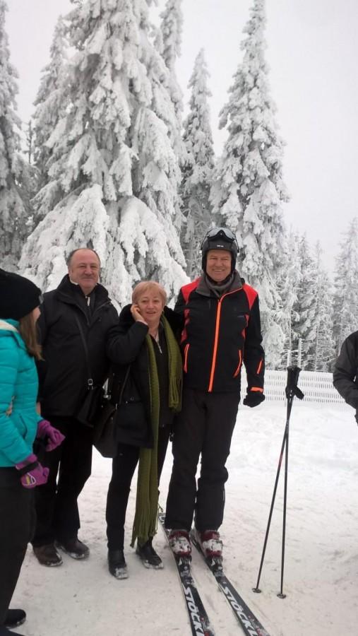 Iohannis, vacanță pe schiuri la Păltiniș