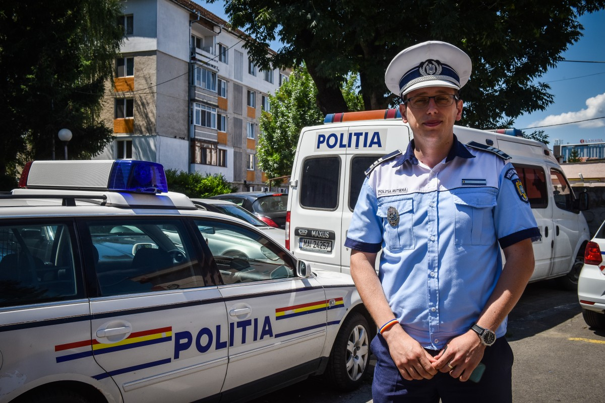 Interviu cu agentul Ionuț Natea, Serviciul Rutier. Care sunt cele mai periculoase străzi din Sibiu?