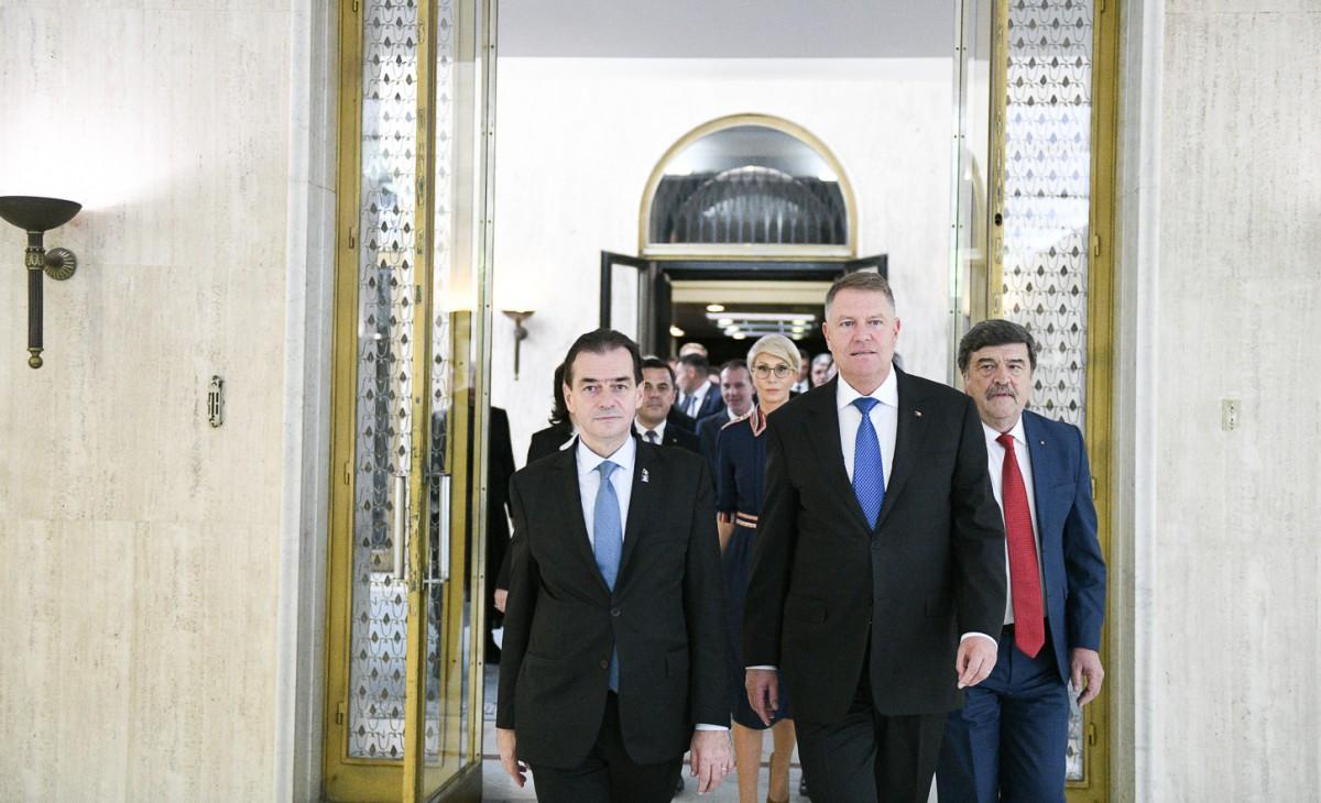 """Iohannis: """"Îl desemnez pe domnul Ludovic Orban să formeze un nou guvern"""""""