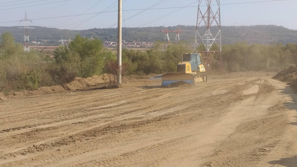 FOTO A început construcția autostrăzii Sibiu-Pitești