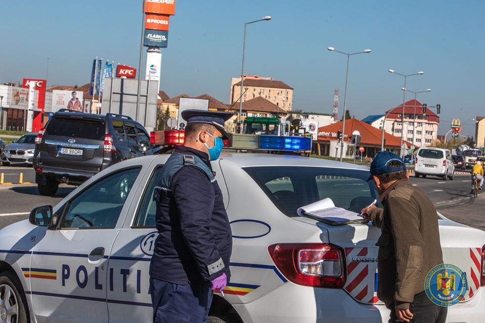 Stare de urgență: 74 de amenzi au fost date, joi, de polițiștii sibieni