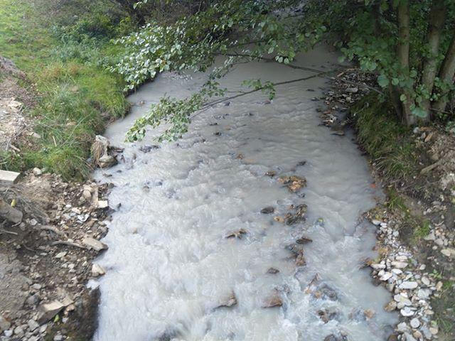 FOTO-Suspiciuni de poluare pe Valea Ștezii.Autoritățile nu au găsit nimic