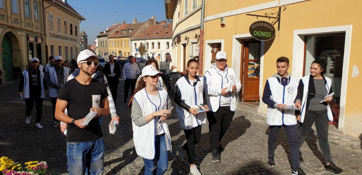 PRO România Sibiu,acțiune în rândul cetățenilor