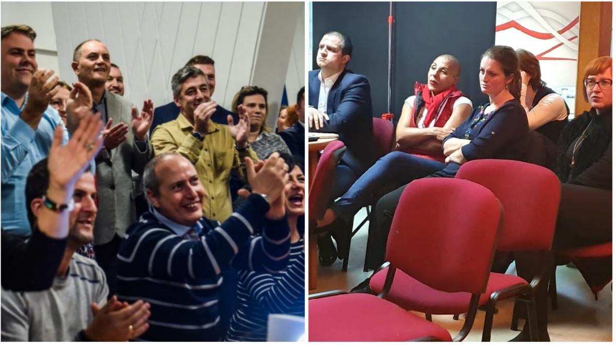 VIDEO Sediile PSD și PNL în seara realegerii lui Iohannis: de la șampanie, la plumb