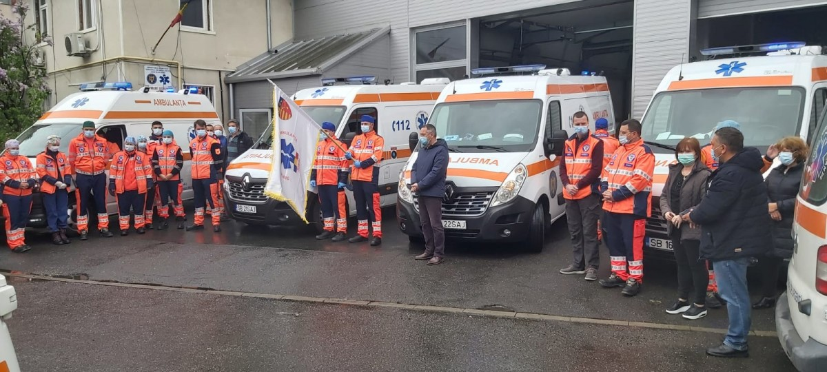 Ambulanța Sibiu: Moment de reculegere pentru al doilea ambulanțier decedat la Suceava