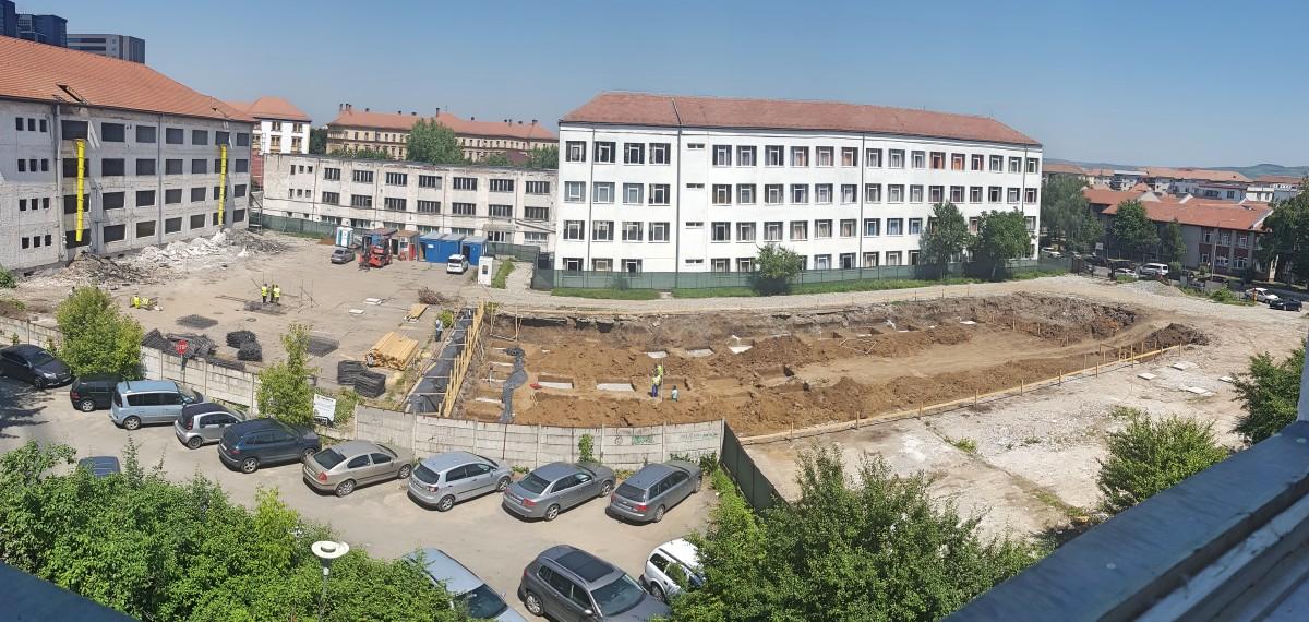 FOTO Au început lucrările pe cel mai mare șantier al Sibiului: cel al Liceului de Artă