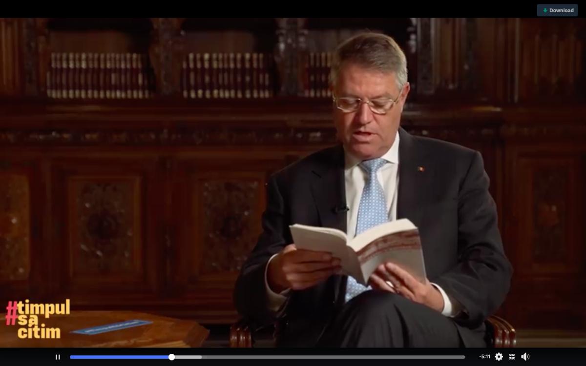 Președintele Iohannis lansează o provocare pentru toți românii: Citește și dă mai departe