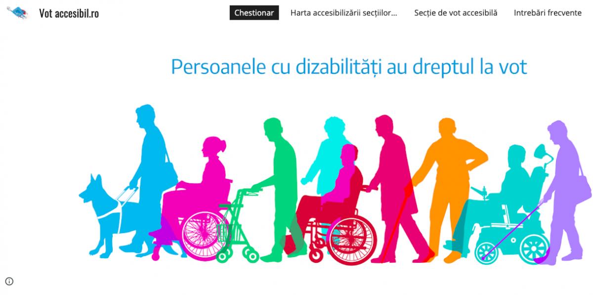 Premieră în România, de la Sibiu: Site dedicat persoanelor cu dizabilități care vor să voteze