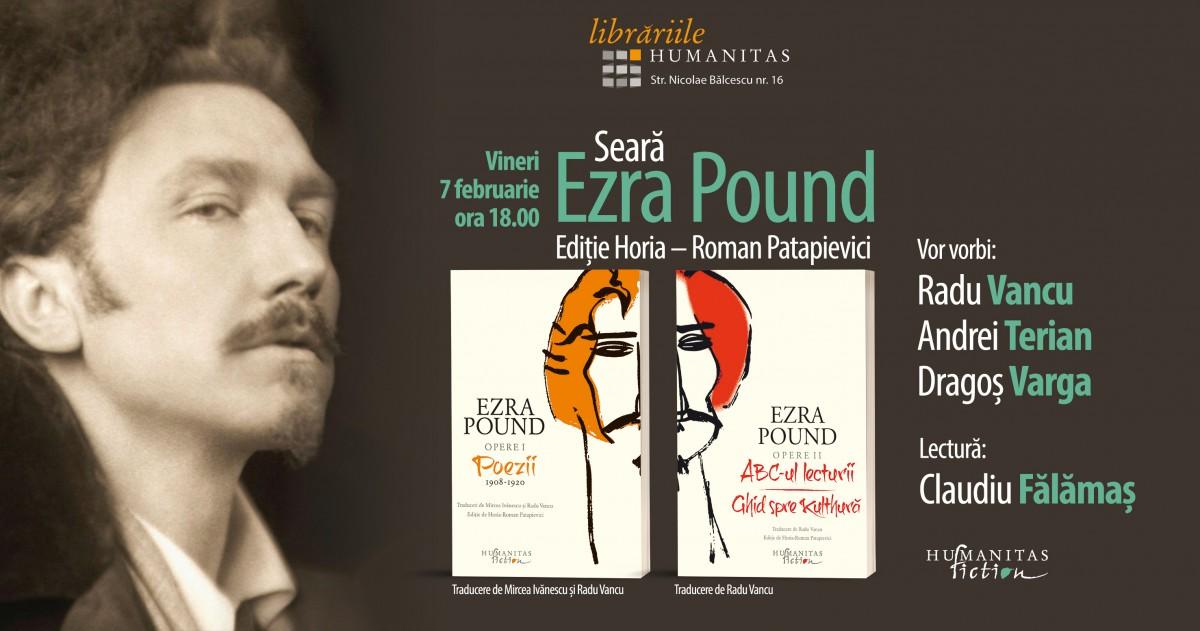 Seară dedicată poetului Ezra Pound la Humanitas