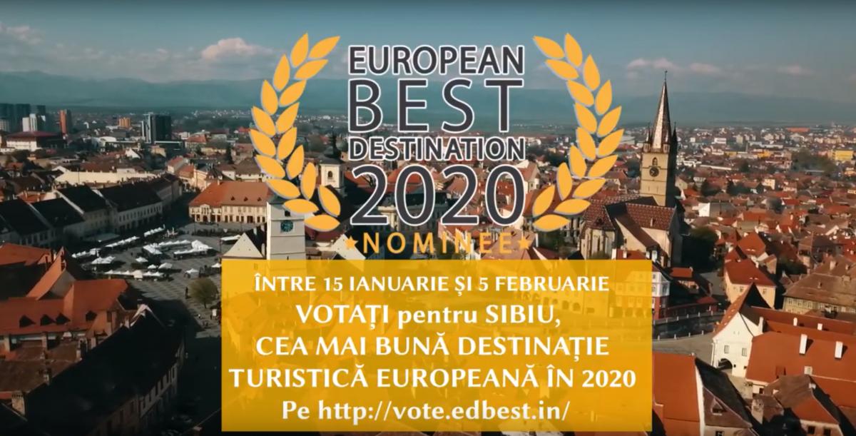 Votați Sibiu în competiția pentru cea mai bună destinație turistică europeană a anului 2020
