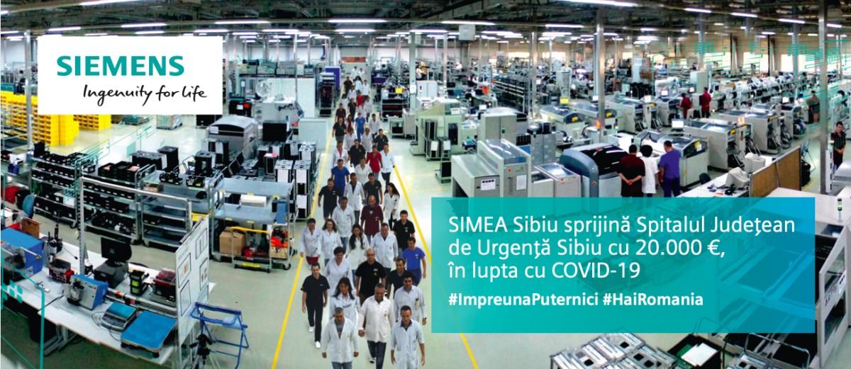 SIMEA Sibiu SRL, companie a Siemens AG, donează 20.000 de euro Spitalului Județean Sibiu