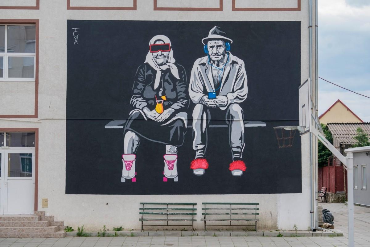 GALERIE FOTO – Sibiul după Street Art. Orașul n-a arătat nicicând mai colorat
