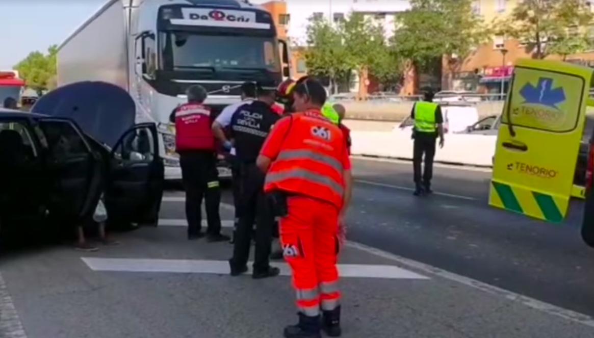 VIDEO-Șoferul unui TIR înmatriculat în Sibiu a făcut ravagii în Spania