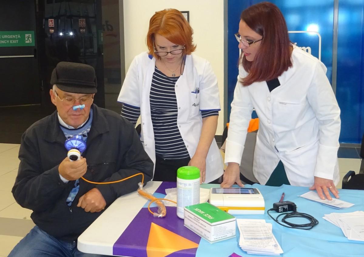Peste 300 de sibieni și-au testat gratuit plămânii. 50% au probleme de sănătate