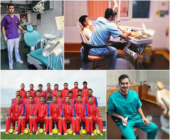 """De pe terenul de fotbal, în cabinetul stomatologic: mingea – """"albinuţa"""" şi golul – zâmbetul pacientului"""