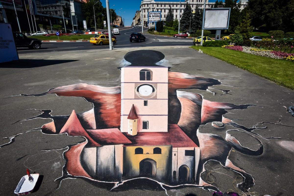 Street Art Festival. Desenele multicolore care trezesc la viaţă întreg Sibiul | foto video