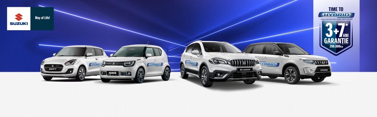 Suzuki își extinde gama de modele hibrid și devine primul producător care comercializează doar modele hibrid 12V și 48V. Time to Hybrid!