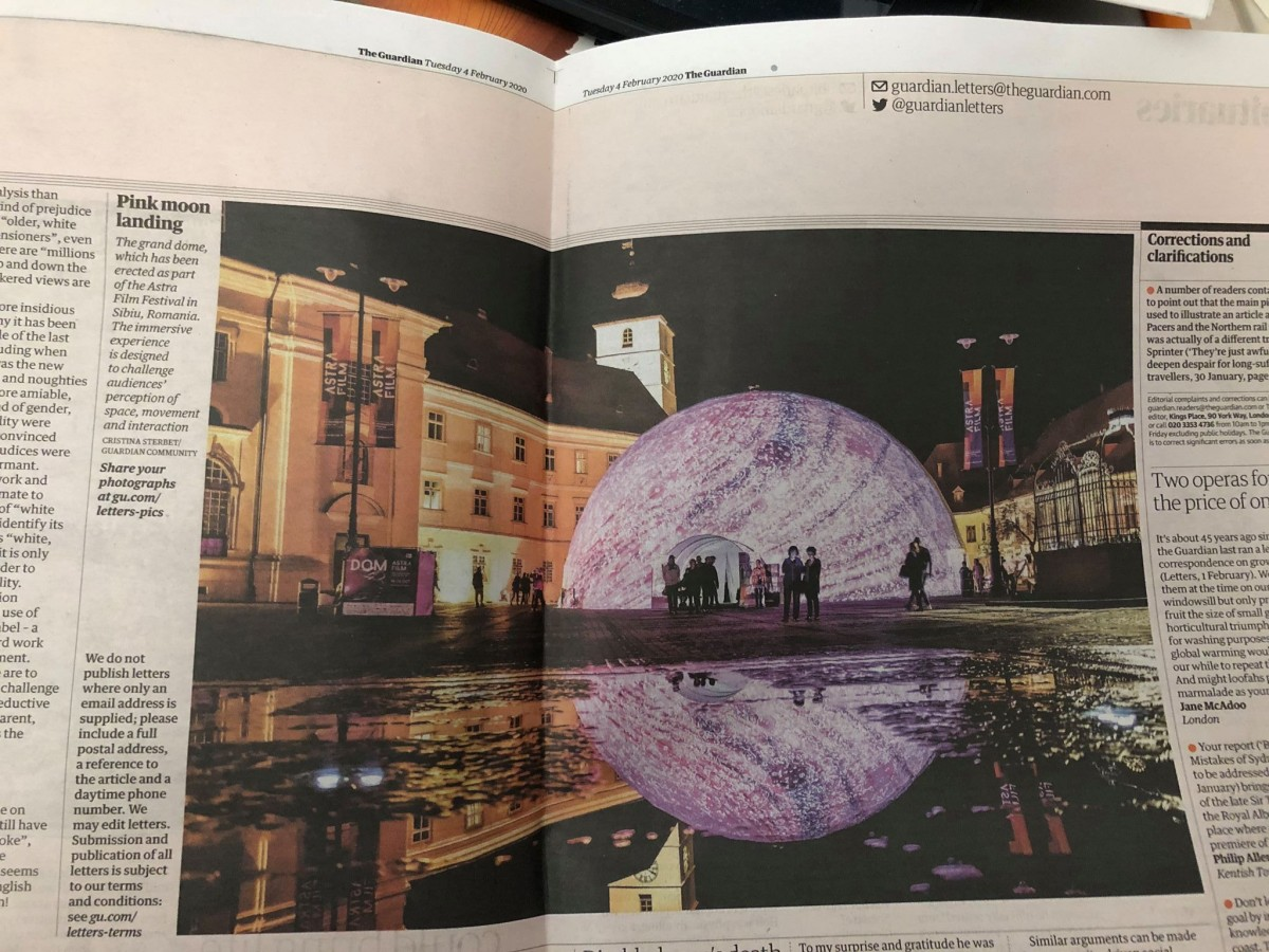 Publicația britanică The Guardian laudă Sibiul și Astra Film Festival