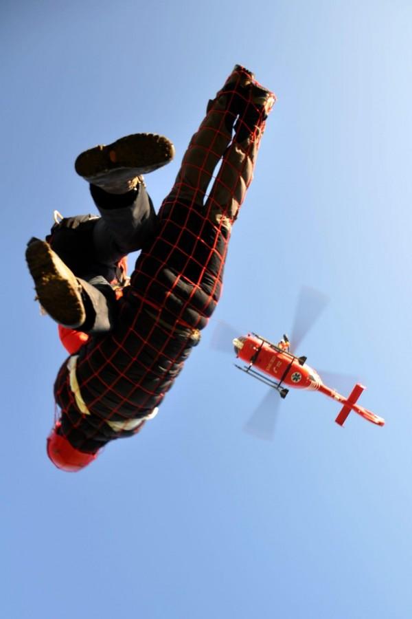 Exercițiu de salvare cu suport aerian, desfășurat de Salvamont Sibiu la Bâlea Lac