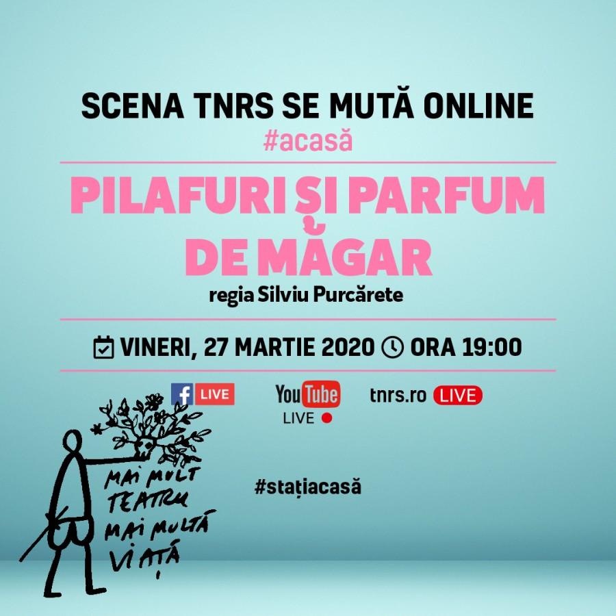 """TNRS: """"Pilafuri și parfum de măgar"""", în regia lui Silviu Purcărete, difuzată online, deZiua Mondială a Teatrului"""