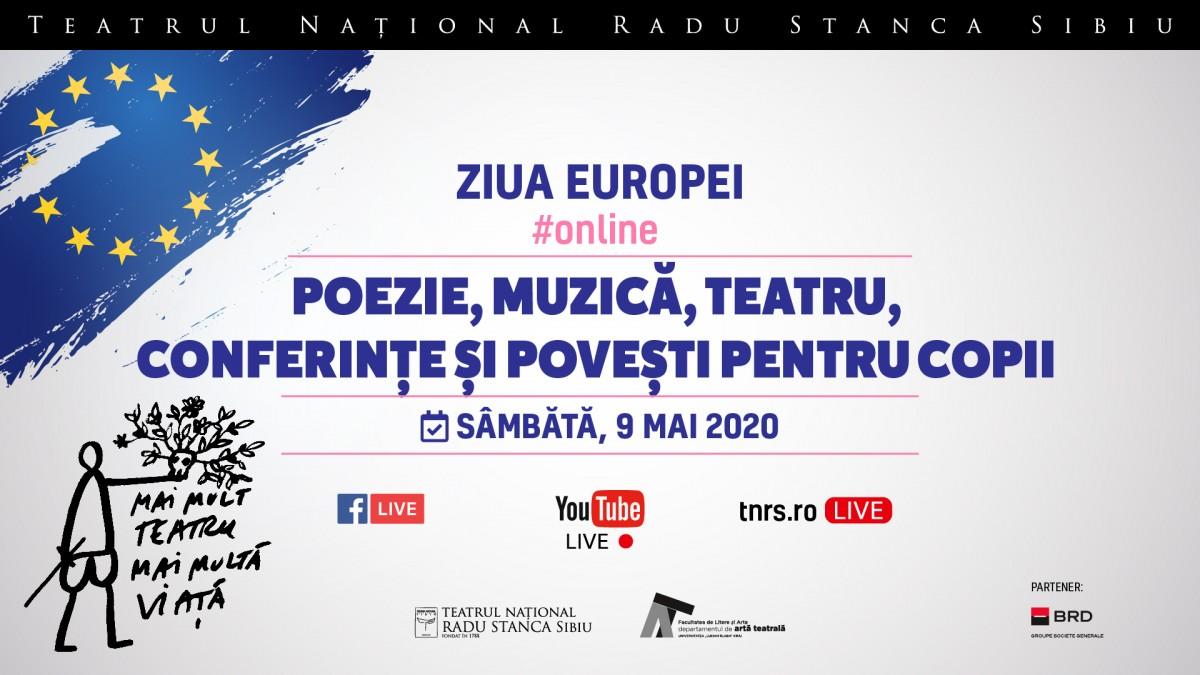 Teatrul Național Radu Stanca Sibiu celebrează Ziua Europei online. Program
