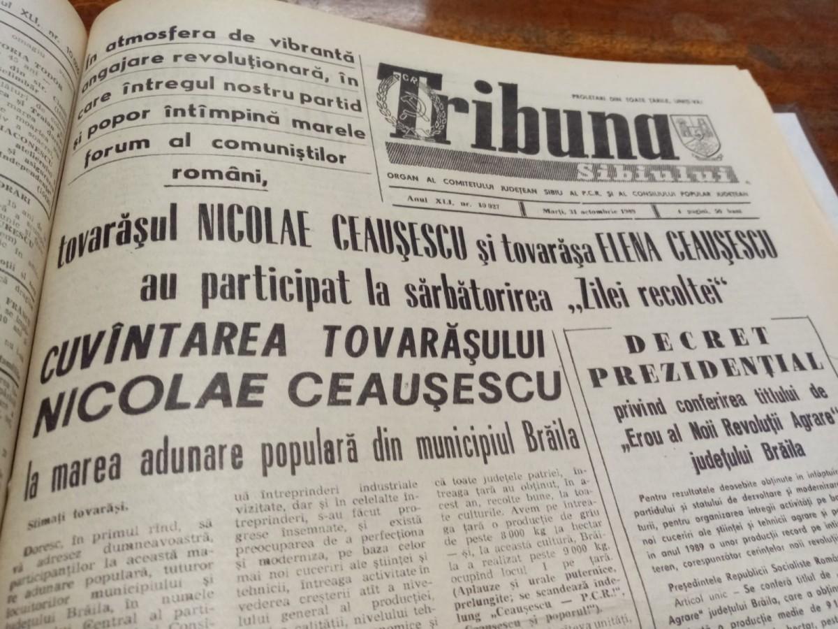 """30 de ani. Anul cultural 1989: Centenarul Eminescu și Creangă, premiile teatrului sibian și Fotoclub """"Orizont"""""""