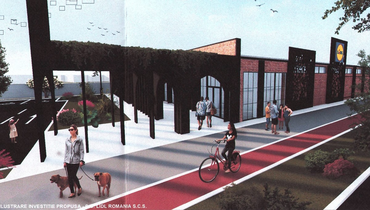 Lidl mai construiește un magazin în Sibiu. Cu o nouă stradă pe malul Cibinului
