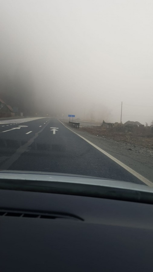 Cod galben de ceață în mare parte din județul Sibiu