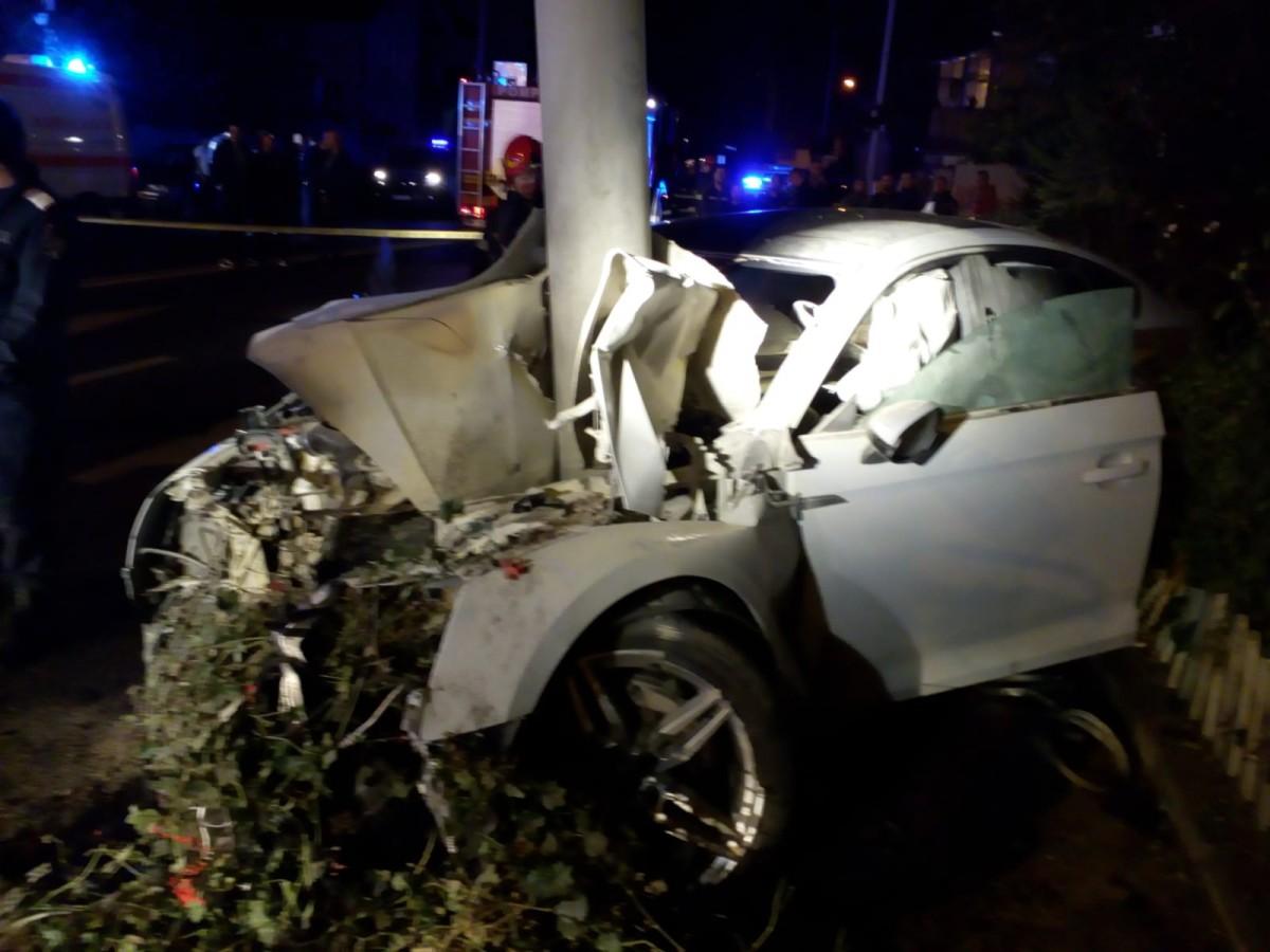 Actualizare. Accident tragic pe Șos. Alba Iulia. Unul din tineri este încă internat în spital