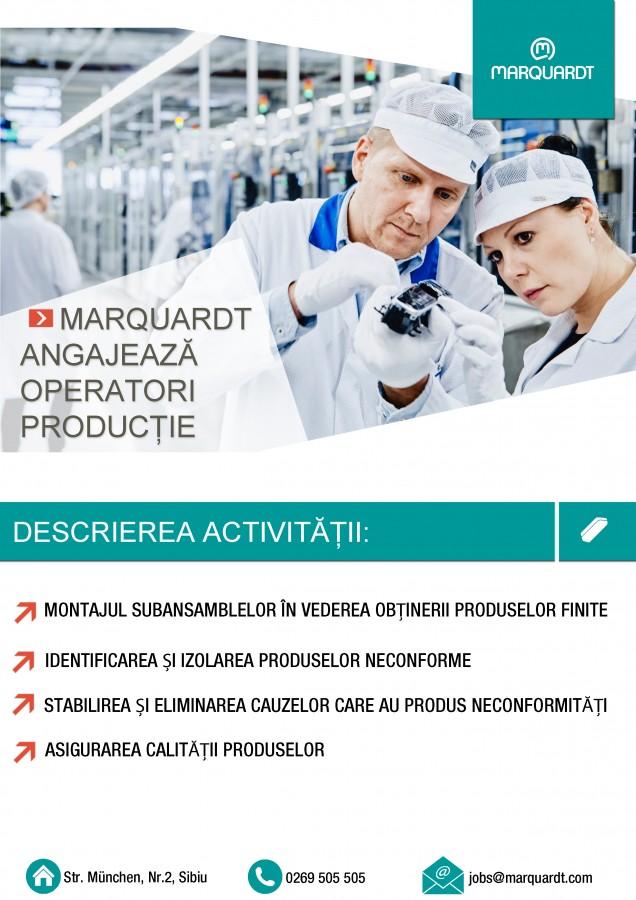 Compania Marquardt caută operatori producție