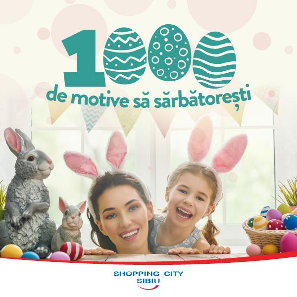 Sibiu shopping City oferă 1000 de cadouri de Paști