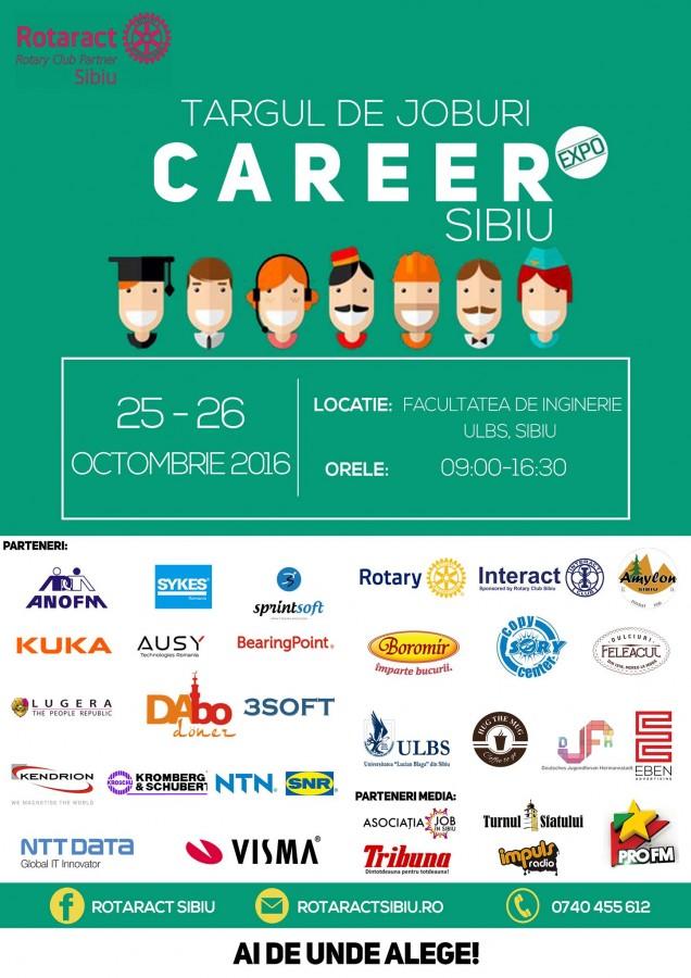 """Noi oportunități de angajare pentru sibieni, la târgul de joburi """"Career Expo"""""""