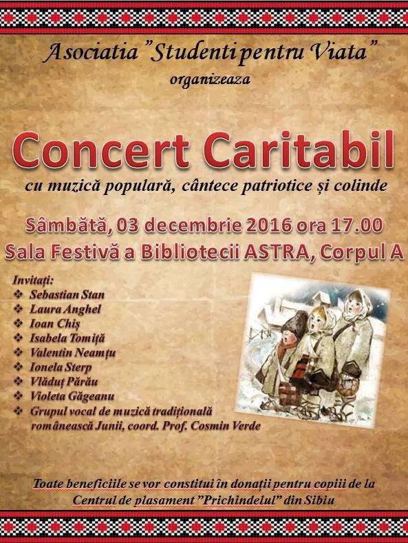 Concert caritabil pentru copiii de la Prichindelul. Cu muzică populară, colinde și cântece patriotice