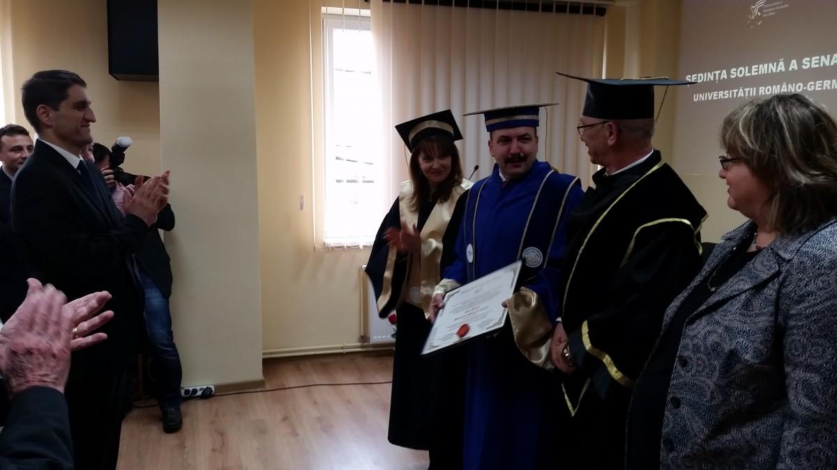 FOTO Ghiță Bârsan, rectorul AFT, a devenit Doctor Honoris Causa al Universității Româno-Germane
