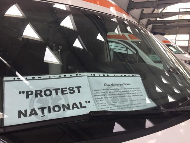 Protest la Ambulanță: mașini mai bune și salarii mai mari