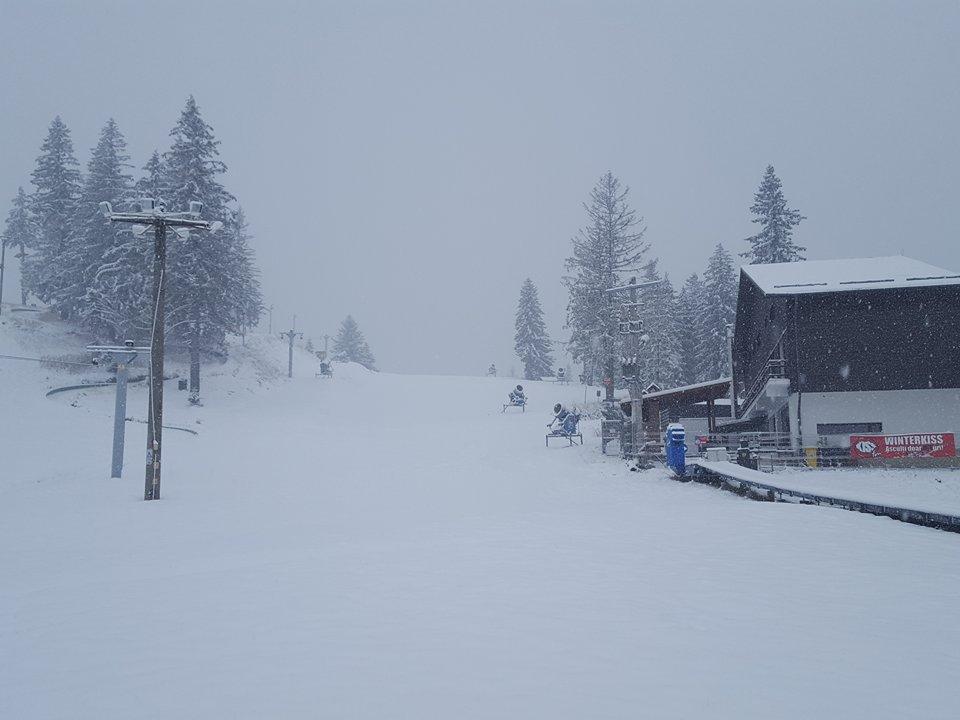 FOTO-VIDEO La Păltiniș ninge ca-n povești. În câteva zile începe sezonul de schi