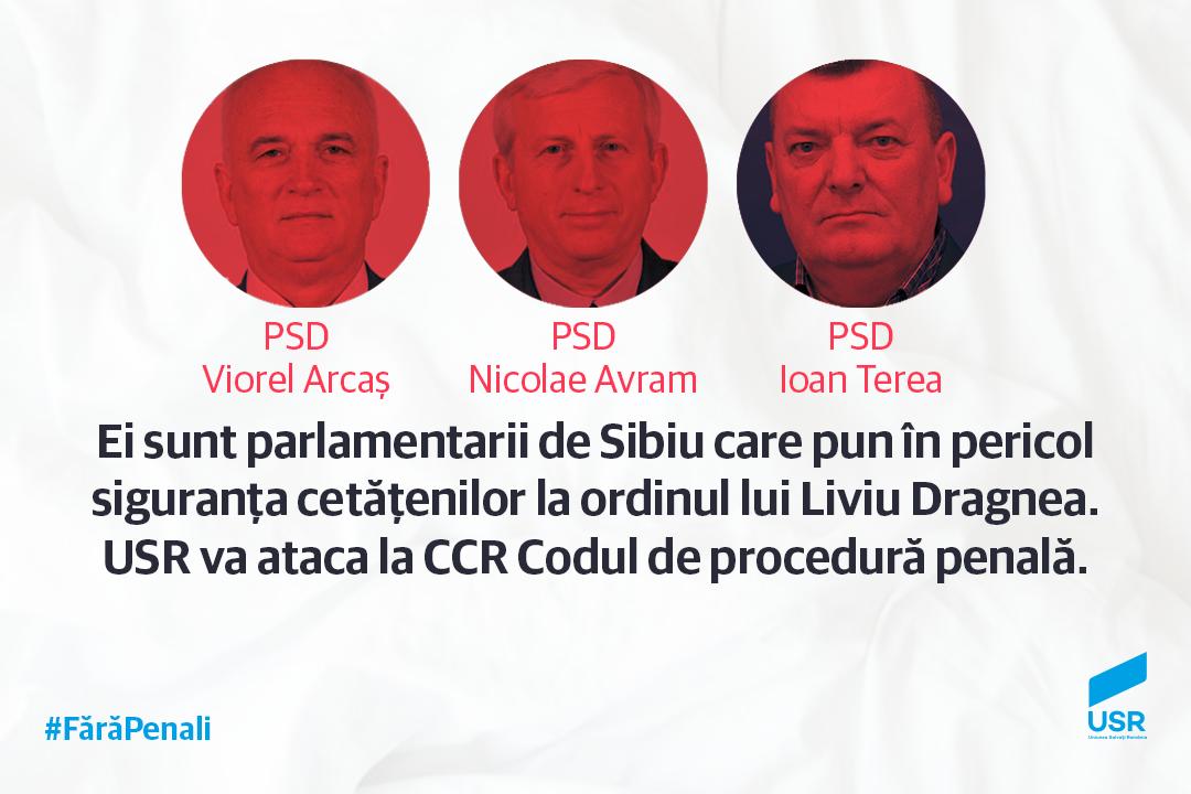 USR Sibiu: PSD pune în pericol siguranța cetățenilor!