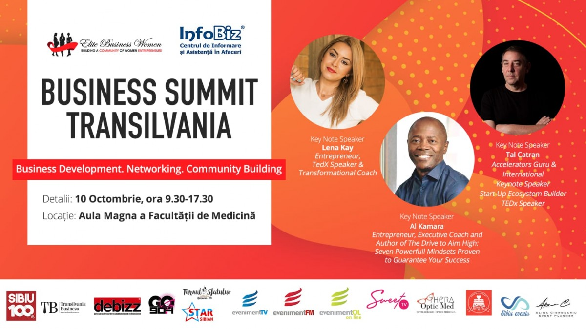 Transilvania Business Summit. Trei importanți speakeri internaționali vin la Sibiu