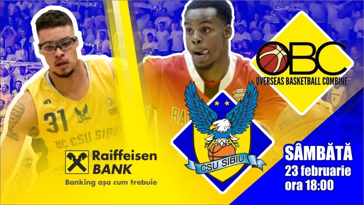 Super meci de baschet, la Sibiu. BC CSU Sibiu joacă cu Overseas Basketball Combine