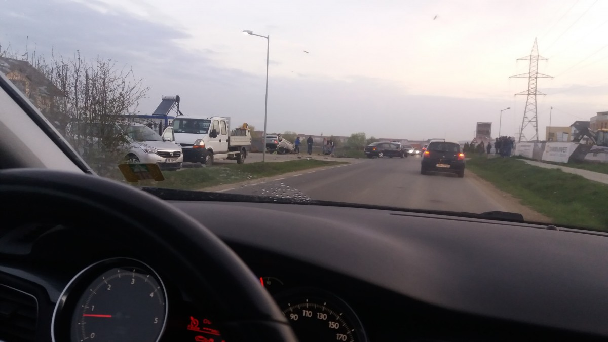 Accidentul din Cartierul Arhitecților, provocat de o șoferiță neatentă
