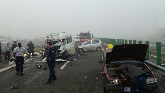 Ultima maşină implicată în accidentul de pe A2 a rămas cu kilometrajul blocat la 118 km/h