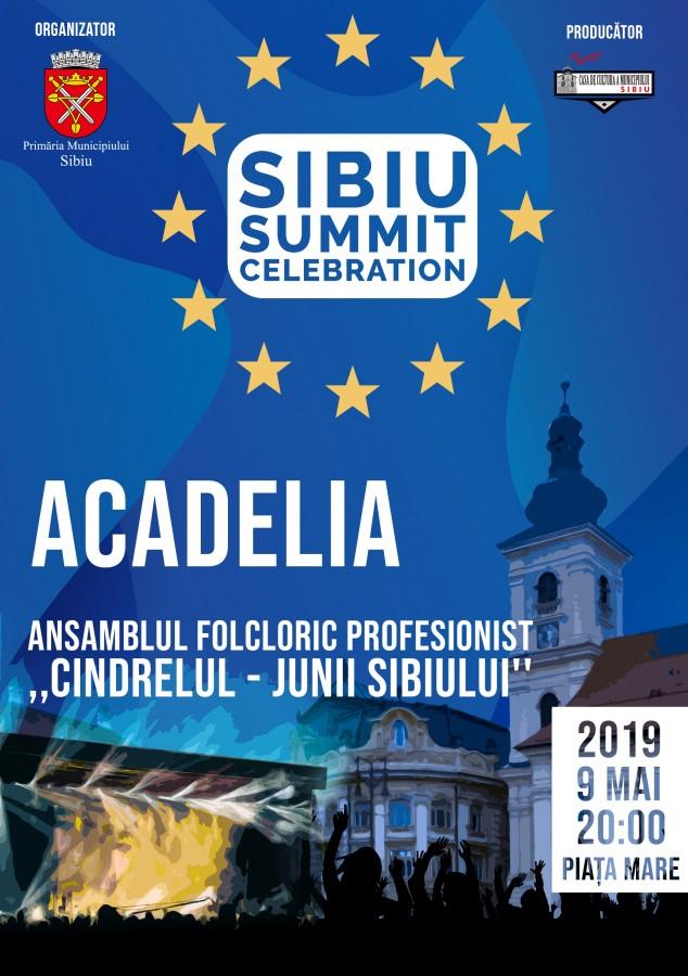 Sibiul sărbătorește Summitul european și Ziua Europei, în Piața Mare