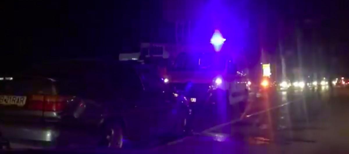 Accident în lanț la intrare în Sibiu. Șoferul vinovat este foarte băut